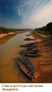 Čolni za prevoz po reki Surma (Bangladeš)