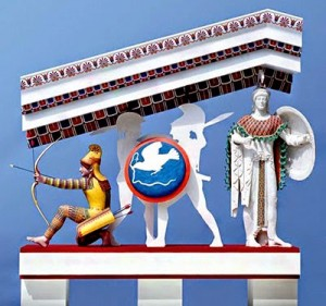 Arcere fronton tenpio grego
