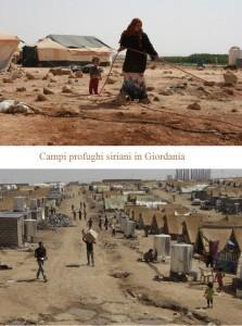 Campi profughi siriani in Giordania