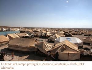 Le tende del campo profughi di Za'atari (Giordania) -
