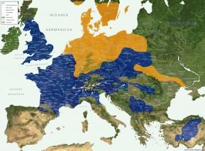 MapPovoli ouropei
