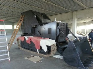 Tanko costruito da Indipendentisti veneti