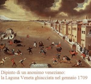 laguna veneta ghiacciata 1709