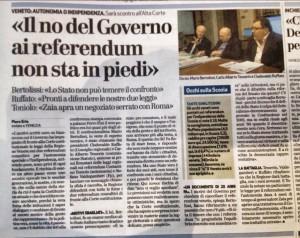 El no del governo al referendo veneto
