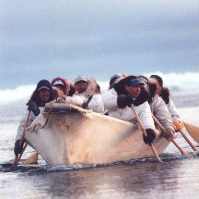 Inuit barca de pele mare artego