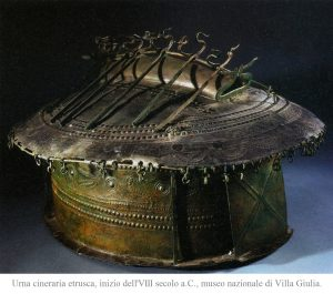 urna-a-capanna-in-bronzo
