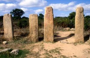 Stelen-Menhire im Alignement von Stantari, Korsika