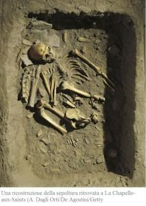 una-ricostruzione-della-sepoltura-ritrovata-a-la-chapelle-aux-saints
