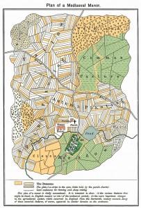 Plan mediaeval manor oro