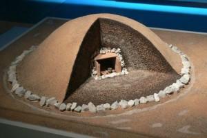 Modello di un tumulo del periodo di Hallstatt