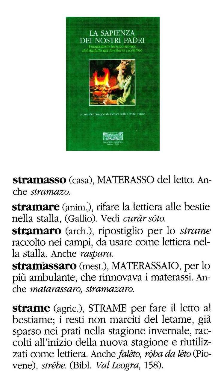 Materasso Di Crine Significato fiłò o foro/forum de fiłarveneto • view topic - stramàso