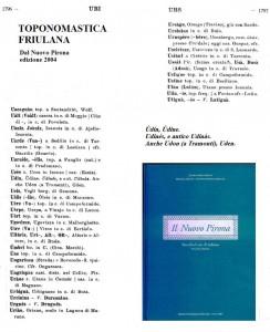 UDENE Toponomastica Friulana Udine Pirona