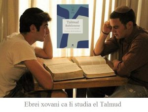 Ebrei xovani ca li studia el Talmud