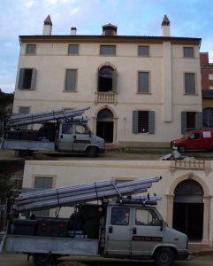 Palazzo vecchio e vigile del fumo